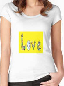 ASL LOVE HANDS Women's Fitted Scoop T-Shirt