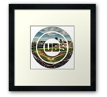 Chicago Cubs Stadium Logo Framed Print
