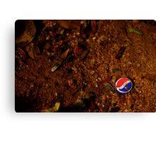 Pepsi cap in rural village in Central America Canvas Print