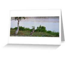 Sunrise on the River Murray @ Mannum, S.A. Greeting Card