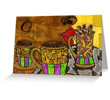 I'll Take Three Cups of Java Please Greeting Card