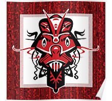 Angry Red Shaman Mask Poster