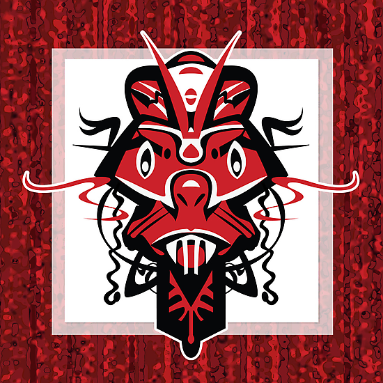 Angry Red Shaman Mask by KenRinkel
