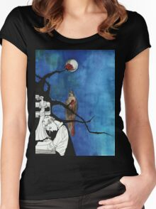 The Nightingale and the Rose Women's Fitted Scoop T-Shirt