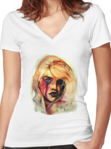 Acerbic Women's Fitted V-Neck T-Shirt