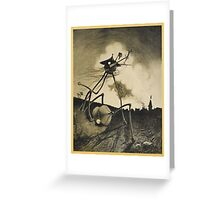 Original Illustrations War of the Worlds 2 Greeting Card
