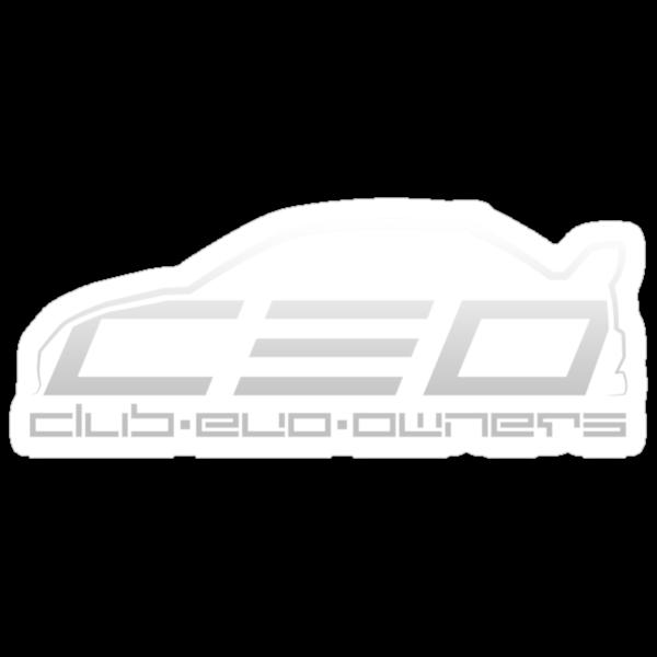Club Evo Owners - Regular Logo (Silver) by James Love