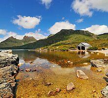 Cradle Mountain and Boathouse, Tasmania Australia by bevanimage