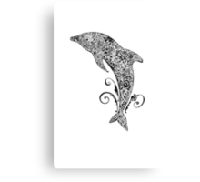 Dolphin Doodle T-shirt Canvas Print