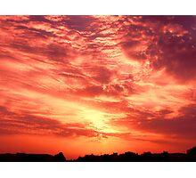 Fiery Sunrise Photographic Print