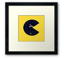 Seethrough Pacman Framed Print