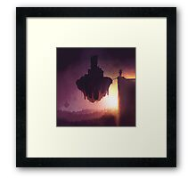 Dawn of the floating islands Framed Print