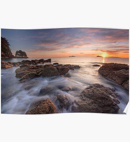 Waimama Bay Sunrise Drift Poster