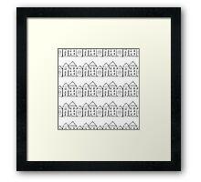 Houses . Hand drawn pattern Framed Print