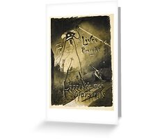 H.G. Wells War of the Worlds Greeting Card