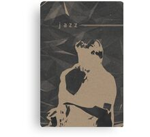 Jazz Music Poster Canvas Print