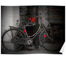 Rusty Vintage Bike Poster