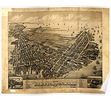 Panoramic Maps View of East Boston Mass 1879 Poster