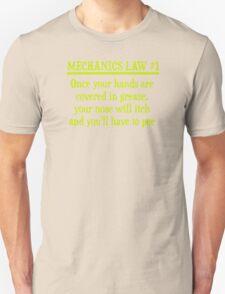 MECHANICS LAW 1 Unisex T-Shirt
