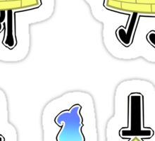 Bill Cipher Sticker set 1 Sticker