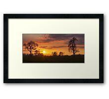 Golden Skies Framed Print