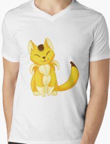 FRUIT CATS: Banyanya Mens V-Neck T-Shirt