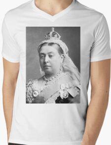 Queen Victoria Mens V-Neck T-Shirt