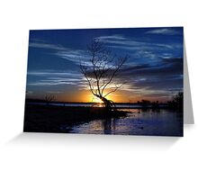 Blue Darkness Greeting Card