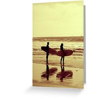 Winter surf in sepia Greeting Card