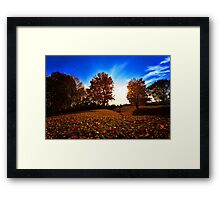 Falling In Love with Autumn Framed Print