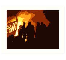 Burning Boat Art Print
