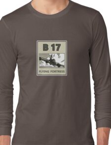 B17 in the skys over Europe Long Sleeve T-Shirt