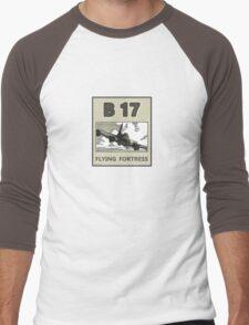 B17 in the skys over Europe Men's Baseball ¾ T-Shirt