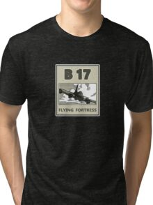 B17 in the skys over Europe Tri-blend T-Shirt