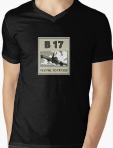 B17 in the skys over Europe Mens V-Neck T-Shirt