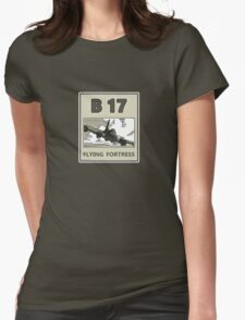 B17 in the skys over Europe Womens Fitted T-Shirt