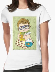 Tattooed Baby 003 Womens Fitted T-Shirt