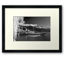 Paddle Steamer on Lake Geneva Framed Print