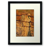 """Bush Boundary"" Framed Print"
