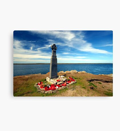 Falklands War - Welsh Guards Memorial Canvas Print