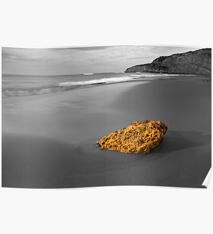 Gold Nugget - Jan Juc Beach Victoria  Poster