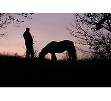 Man and his horse Photographic Print