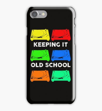 OLD SCHOOL TECHNICS iPhone Case/Skin