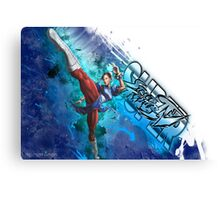 Super Street Fighter 4 - Grunge of Chun Li Canvas Print