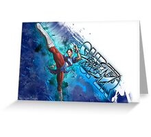Super Street Fighter 4 - Grunge of Chun Li Greeting Card