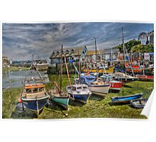 mevagissy harbour.  Poster
