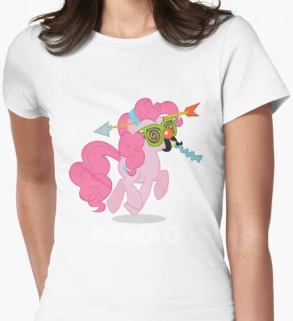 Crazy pinkie pie swag Womens Fitted T-Shirt
