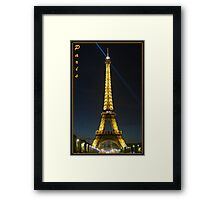 Midnight in Paris: Tour Eiffel Framed Print