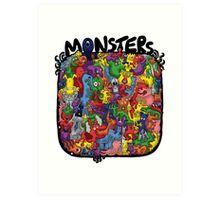 Monster Mash Up Art Print