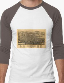 Panoramic Maps Bird's eye view of Butte-City Montana county seat of Silver Bow Co 1884 Men's Baseball ¾ T-Shirt